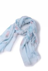 Happy Wahine Scarf Danielle Feathers Teal