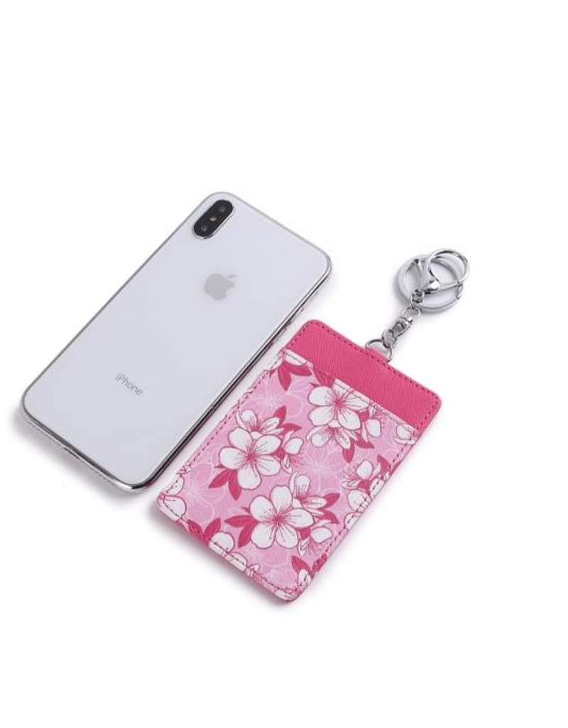 Card Case April Hibiscus Pink