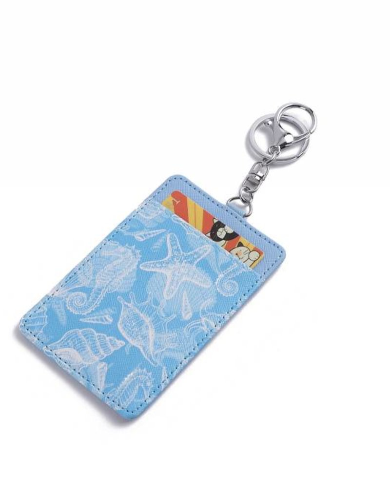 Happy Wahine Card Case April Seahorse Shell Blue