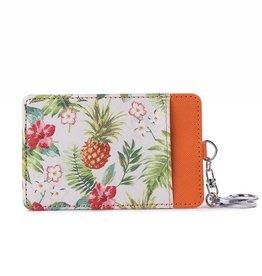 Happy Wahine Card Case April Vintage Pineapple Beige