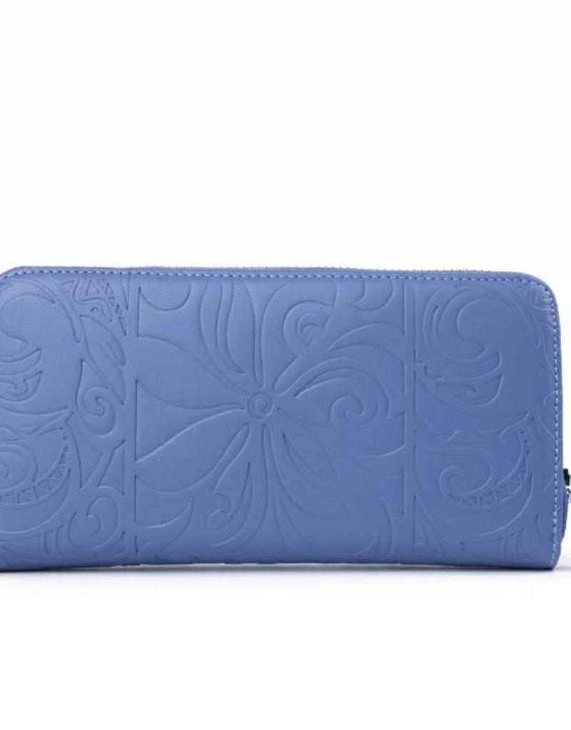 Wallet Kaylee Tapa Tiare Blue Emb