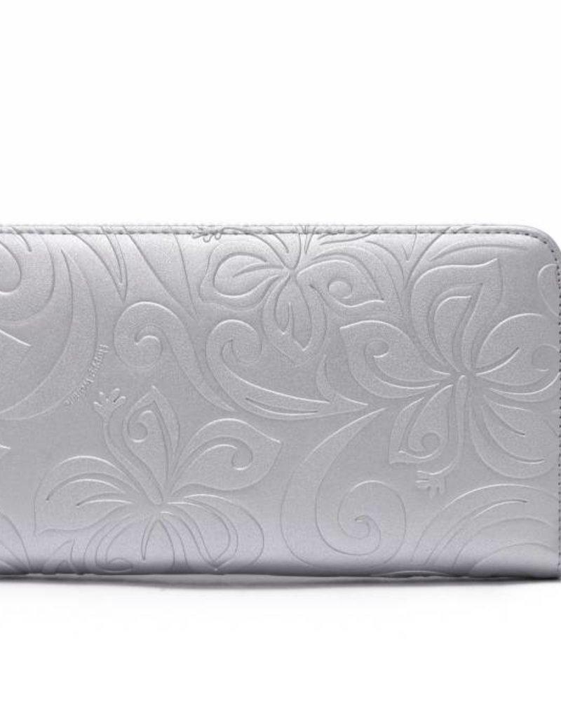 Wallet Kaylee Hibiscus Silver Met Emb