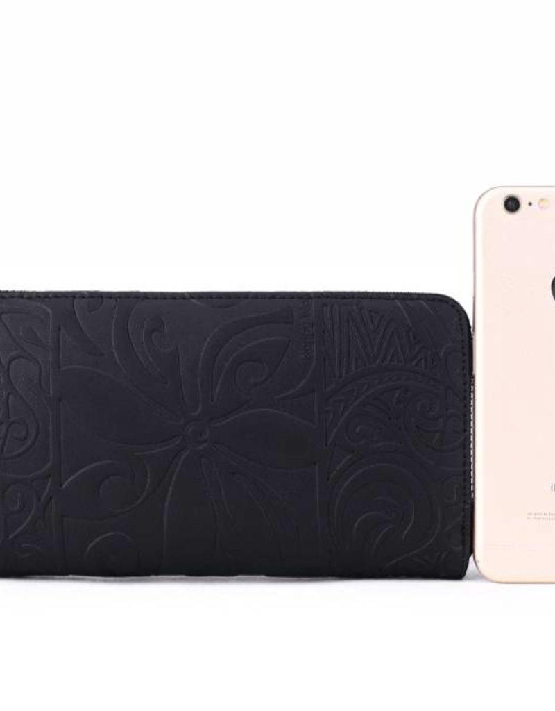 Wallet Kaylee Tapa Tiare Black Emb