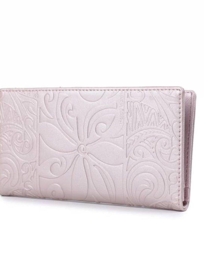 Wallet Teyla Tapa Tiare Pink Met Emb