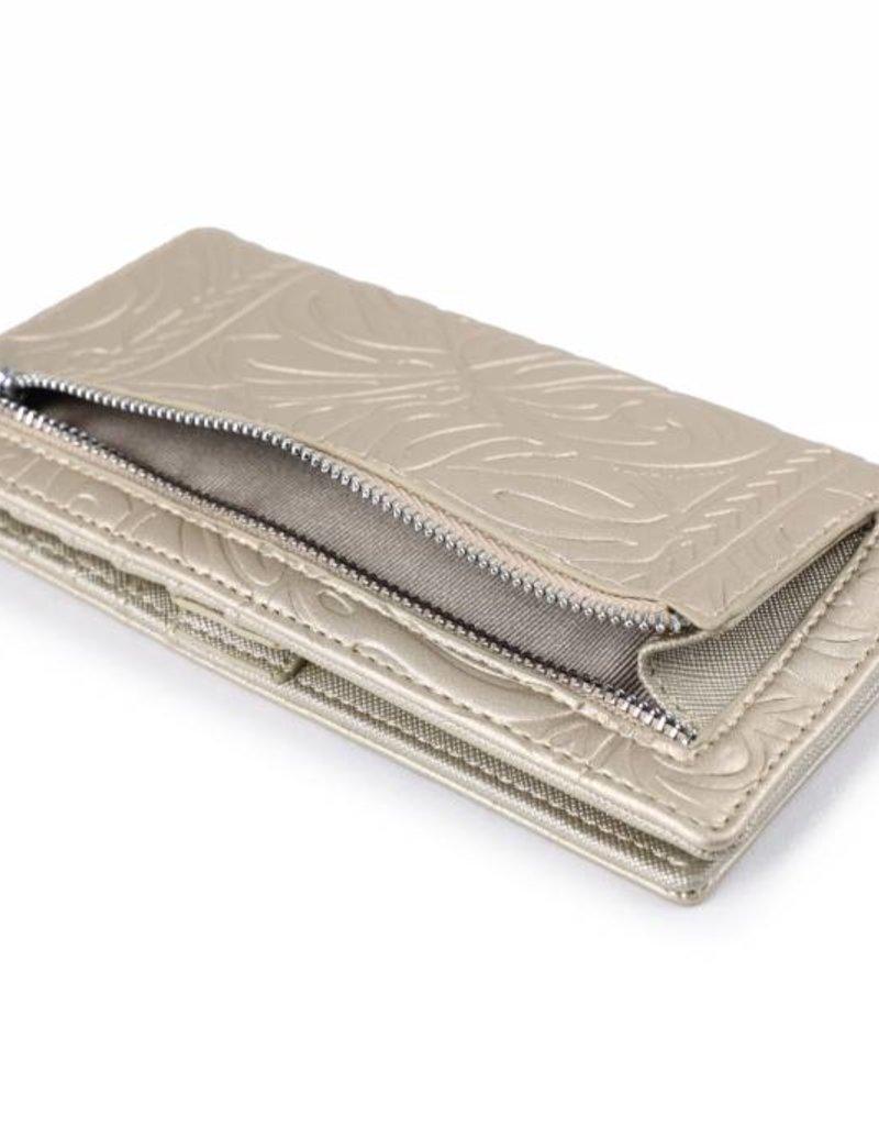 Happy Wahine Wallet Teyla Monstera Gold Met Emb
