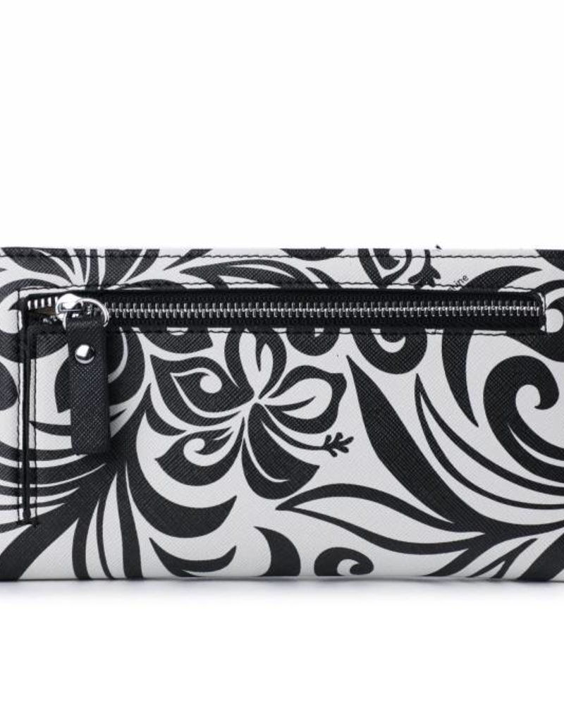 Happy Wahine Wallet Teyla Hibiscus Black