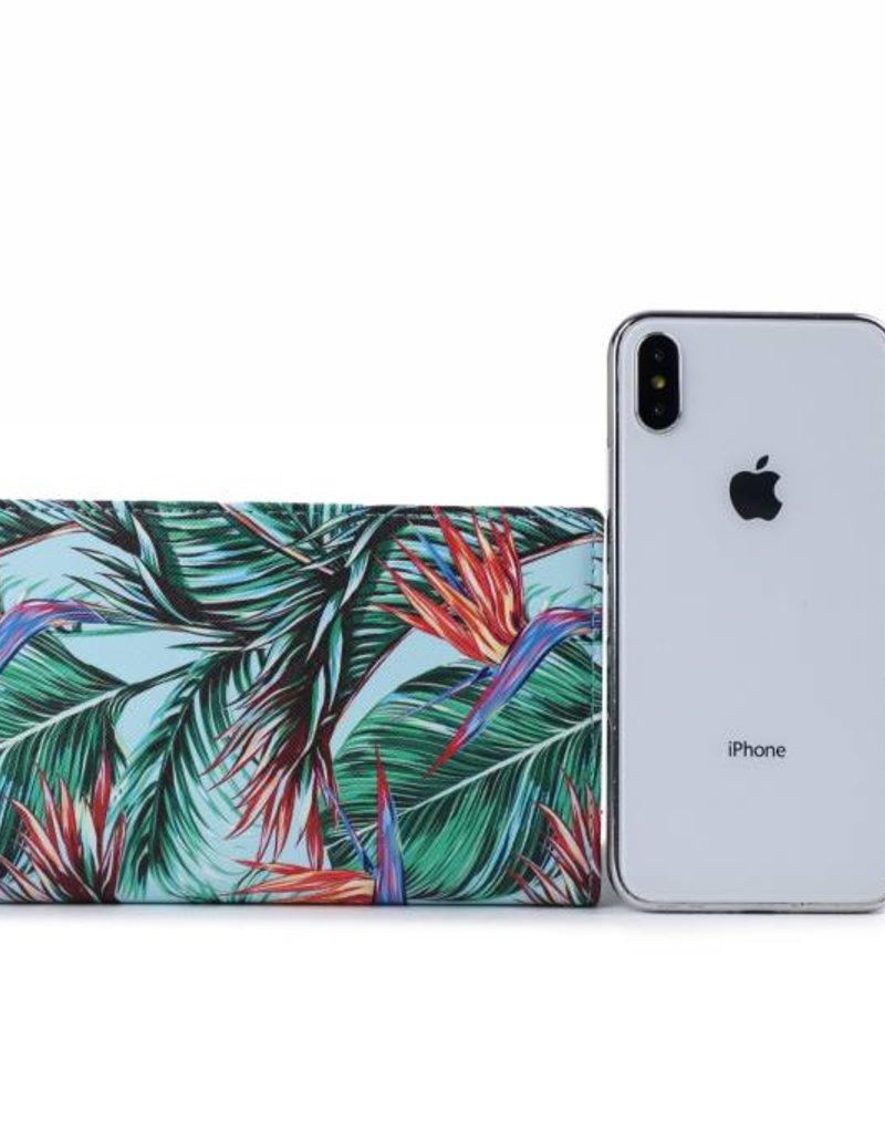 Happy Wahine Wallet Teyla Bird of Paradise Blue