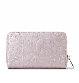 Happy Wahine Wallet Chloe Tapa Tiare Pink Met Emb
