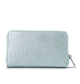 Wallet Chloe Monstera Orchid Green Met Emb