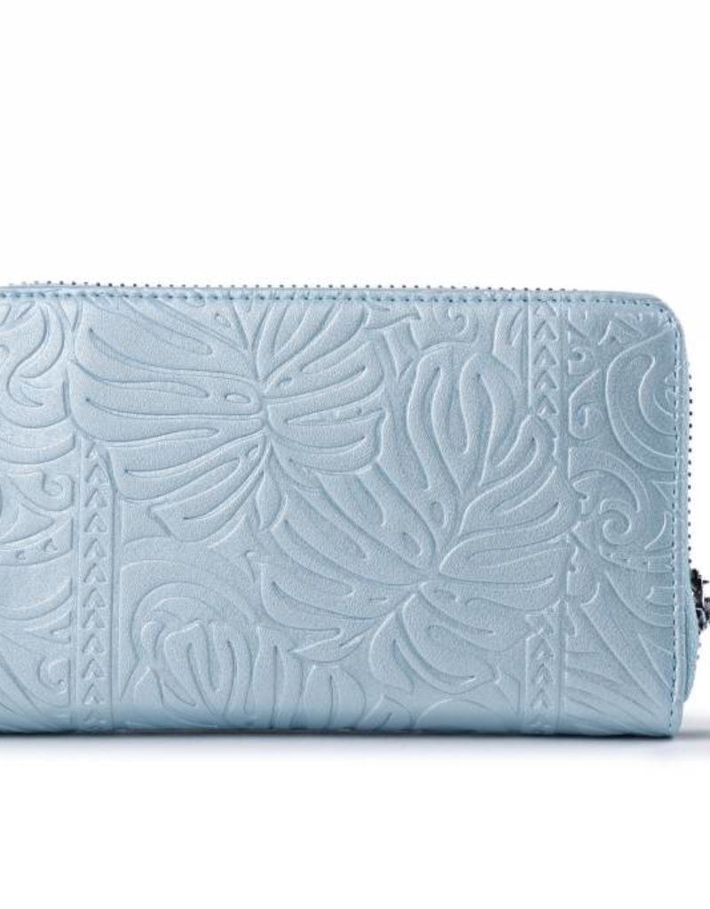 Wallet Chloe Monstera Light Blue Met Emb