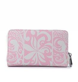 Happy Wahine Wallet Chloe Tapa Tiare Light Pink