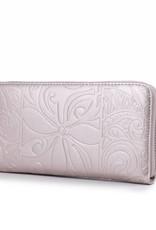 Happy Wahine Wallet Kaylee Tapa Tiare Pink Met Emb