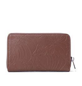 Wallet Chloe Monstera Orchid Brown Emb