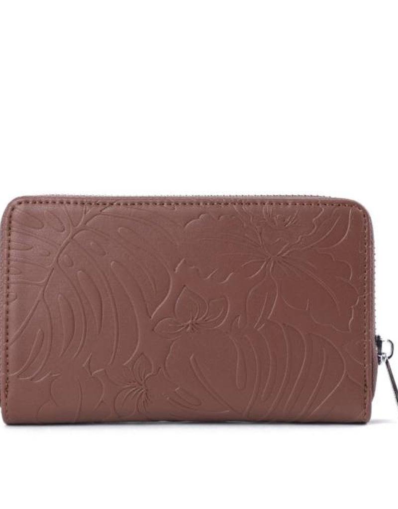 Wallet Chloe Monstera Orchid Brown Emb