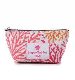 Happy Wahine Everyday HI Pouch Coral