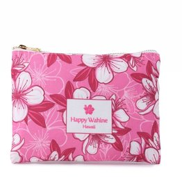 Happy Wahine Everyday HI Flat Pouch Hibscus Pink