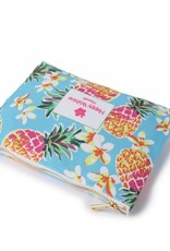 Happy Wahine Everyday HI Flat Pouch Pineapple Blue