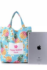 Happy Wahine Everyday HI Small Tote Pineapple Blue