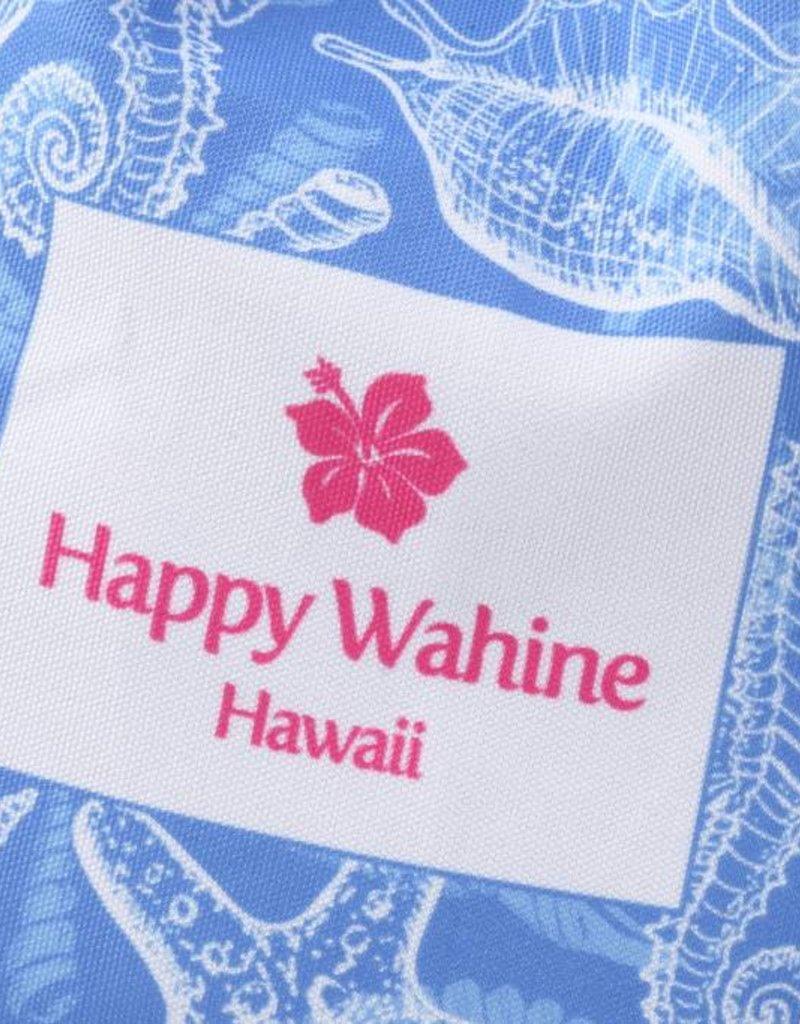 Happy Wahine Everyday HI Small Tote Shells Blue
