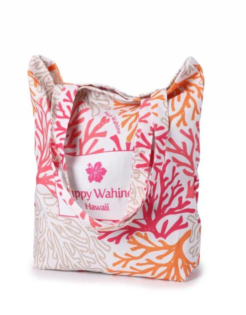 Happy Wahine Everyday HI Tote Coral