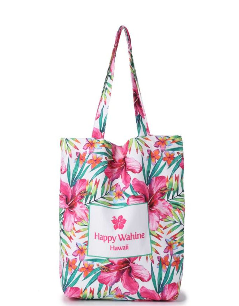 Everyday HI Tote Watercolor Hibiscus