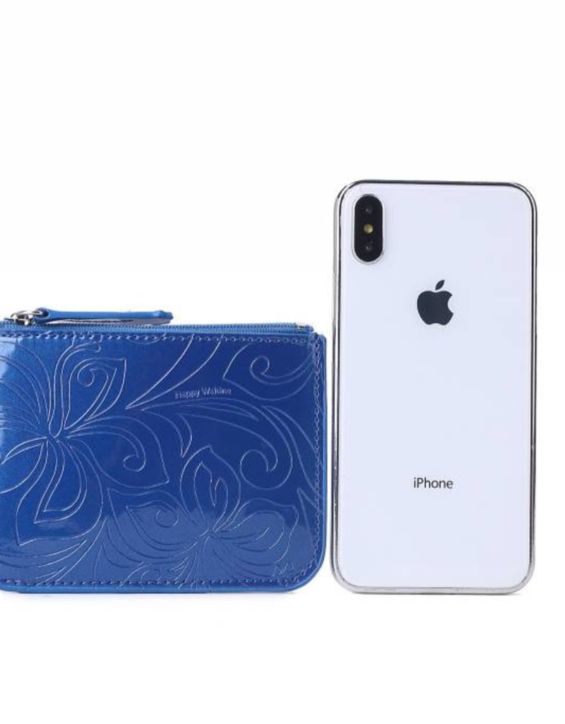 Card Case May Hibiscus Blue