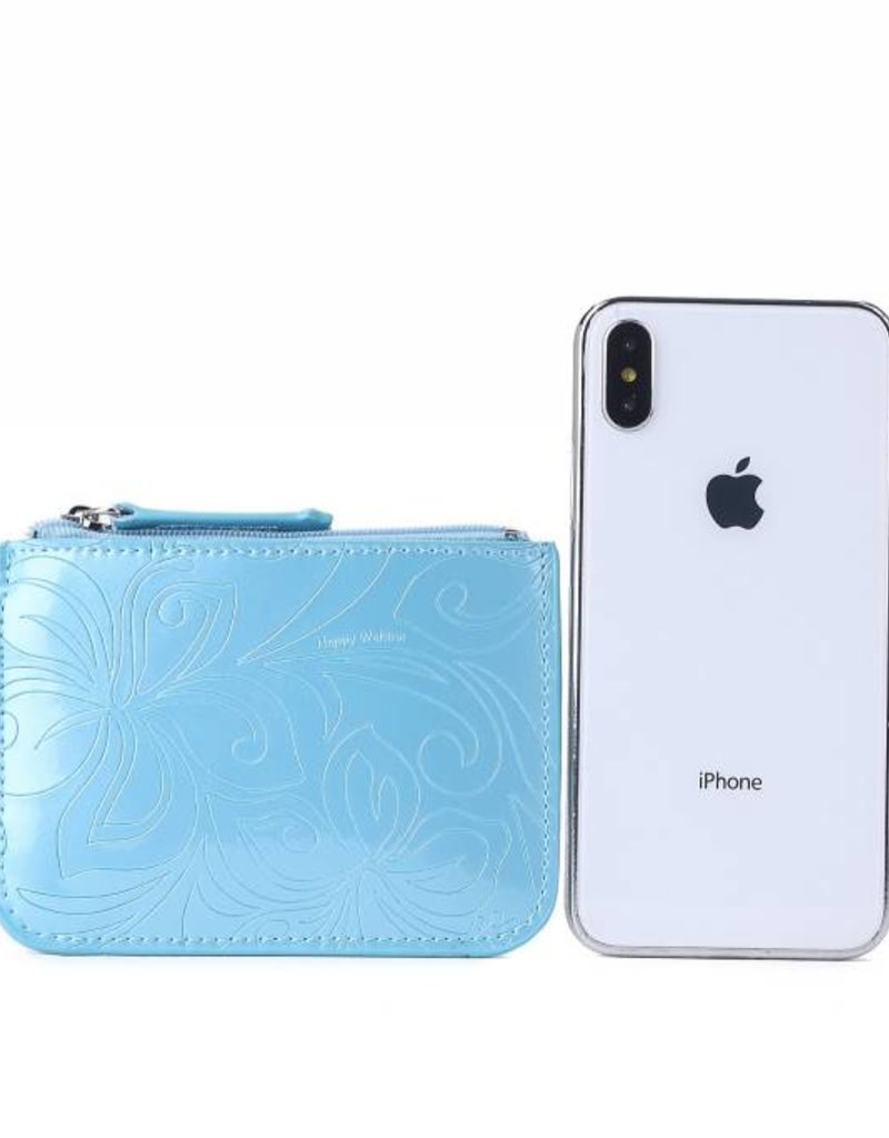 Card Case May Hibiscus Light Blue