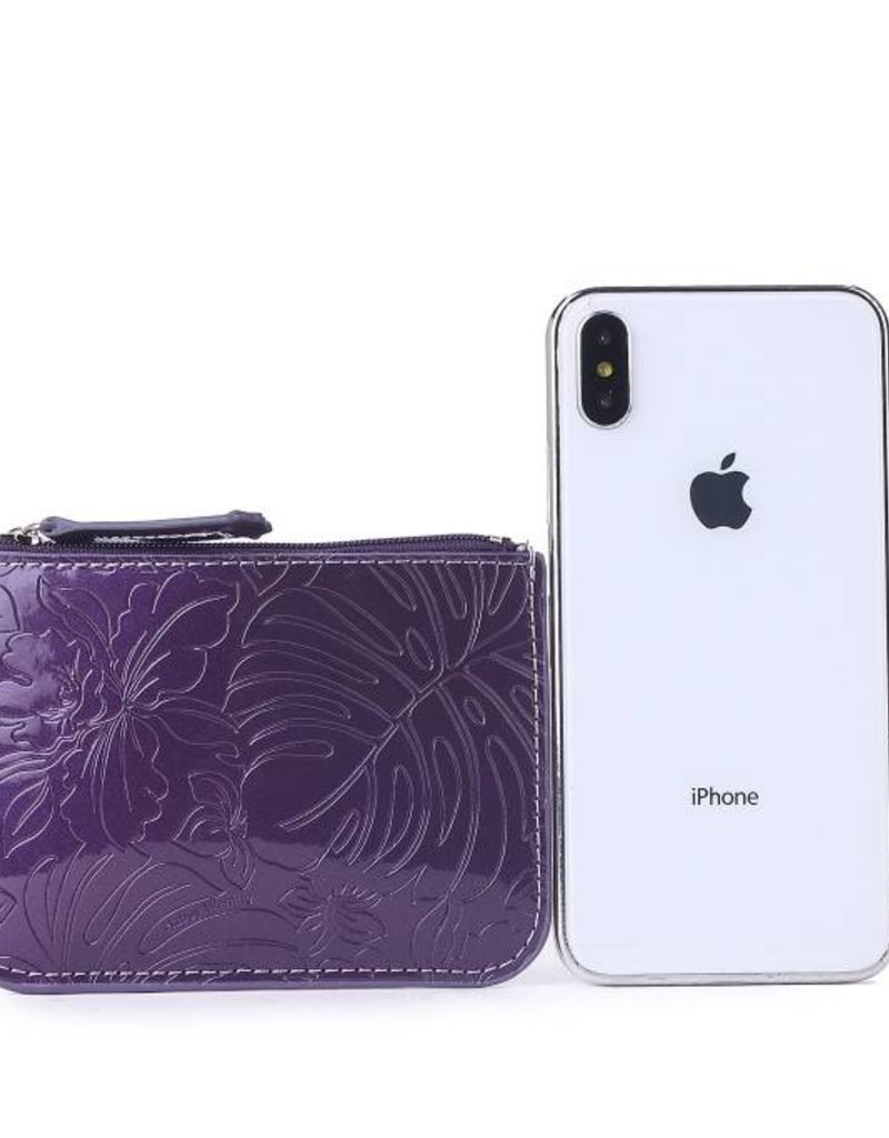 Card Case May Monstera Orchid Purple