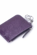 Happy Wahine Card Case May Monstera Orchid Purple