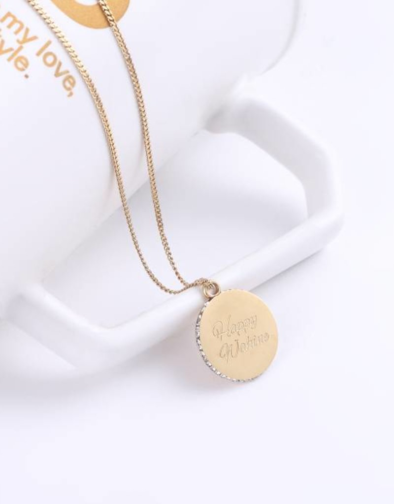 Necklace Aloha/Wahine Gold 26in