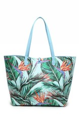 Rev Tote Nancy Bird of Paradise Beige Large