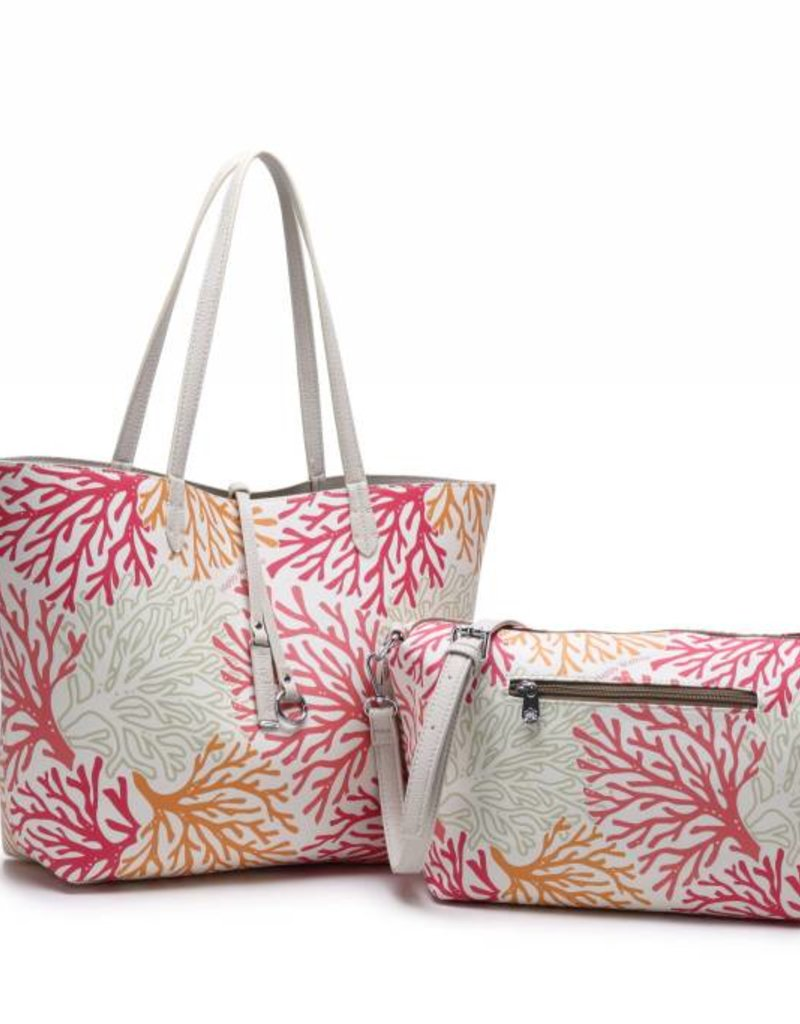 Rev Tote Nancy Coral Beige Large