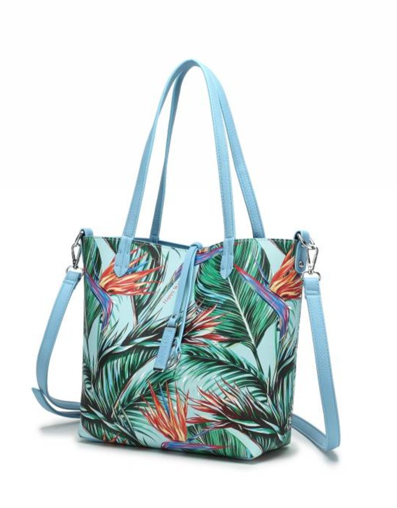 Rev Tote Nancy Bird of Paradise Beige Small