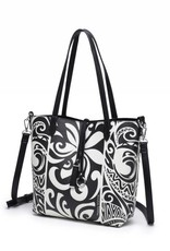 Rev Tote Nancy Tapa Tiare Black Small