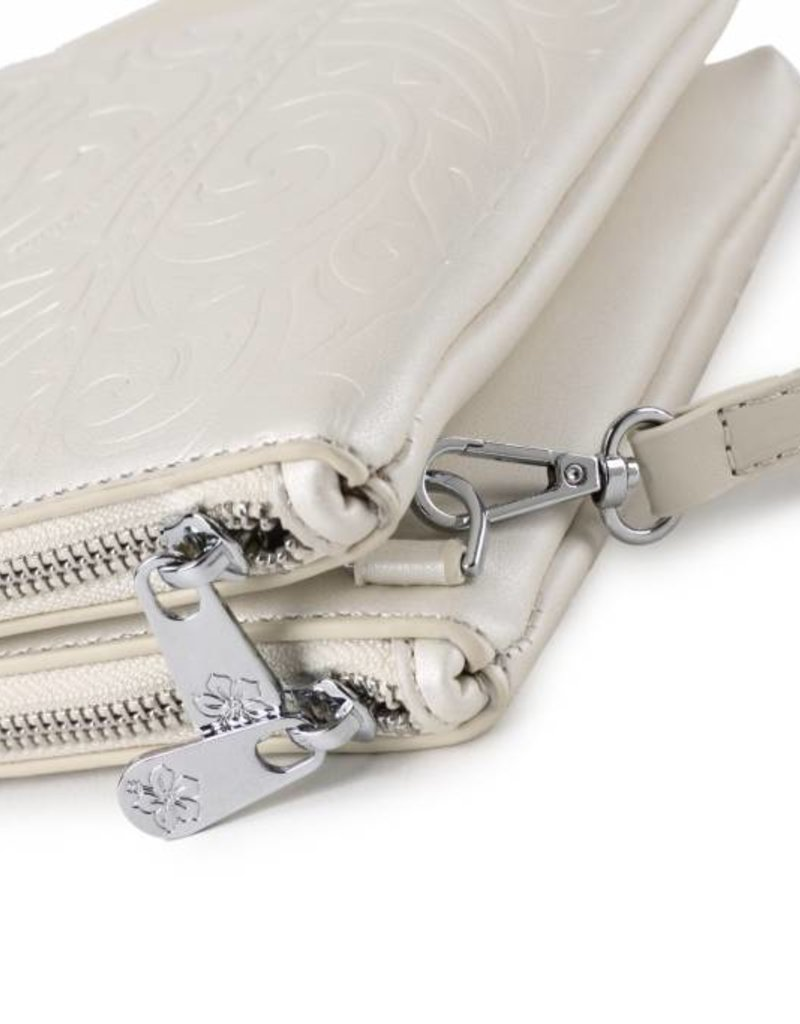 Crossbody Marisa Monstera Embossed Pearl