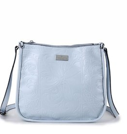 Crossbody Emma Tapa Tiare Embossed Light Blue