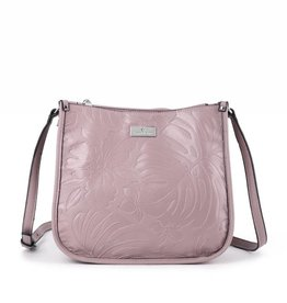 Crossbody Emma Monstera Orchid Embossed Light Purple