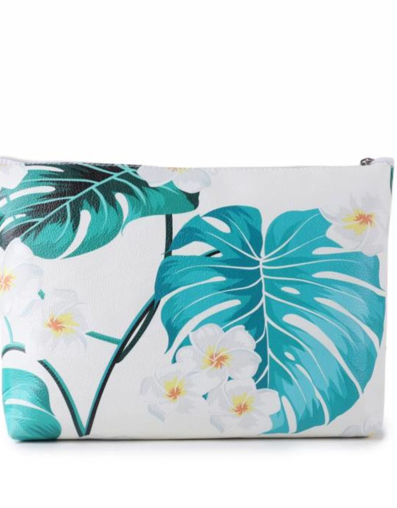 Happy Wahine Pouch Lilo Monstera Large