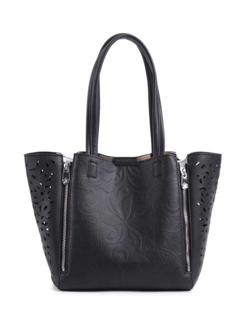Handbag Amy Tapa Tiare Embossed Black Small