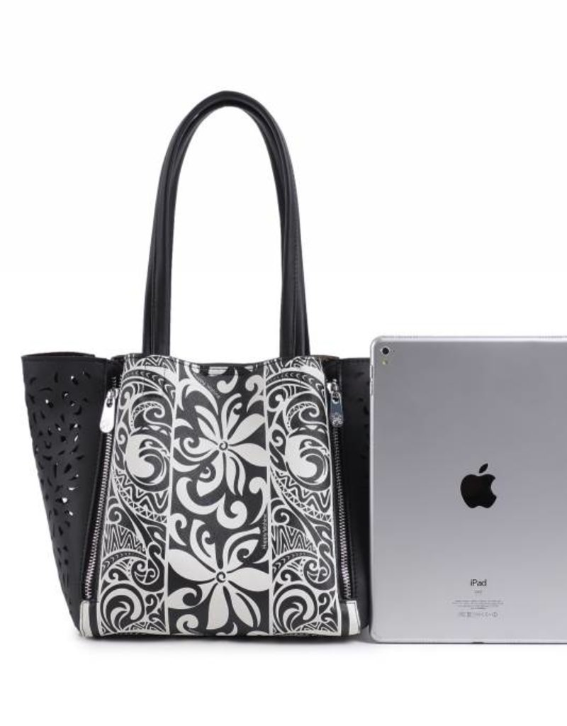 Handbag Amy Tapa Tiare Black Small