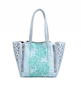 Handbag Amy Monstera Green Small