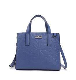 Handbag Katelyn Tapa Tiare Embossed Blue