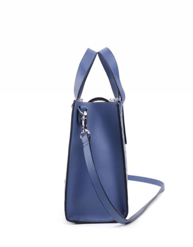 Handbag Katelyn Tapa Tiare Embossed Blue