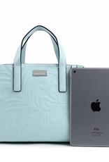 Handbag Katelyn Hibiscus Embossed Aqua