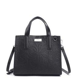 Handbag Katelyn Tapa Tiare Embossed Black