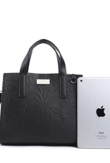 Handbag Katelyn Tapa Tiare Embossed Black