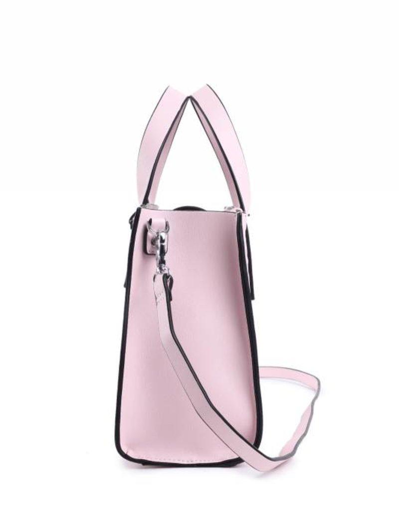 Handbag Katelyn Hibiscus Embossed Pink