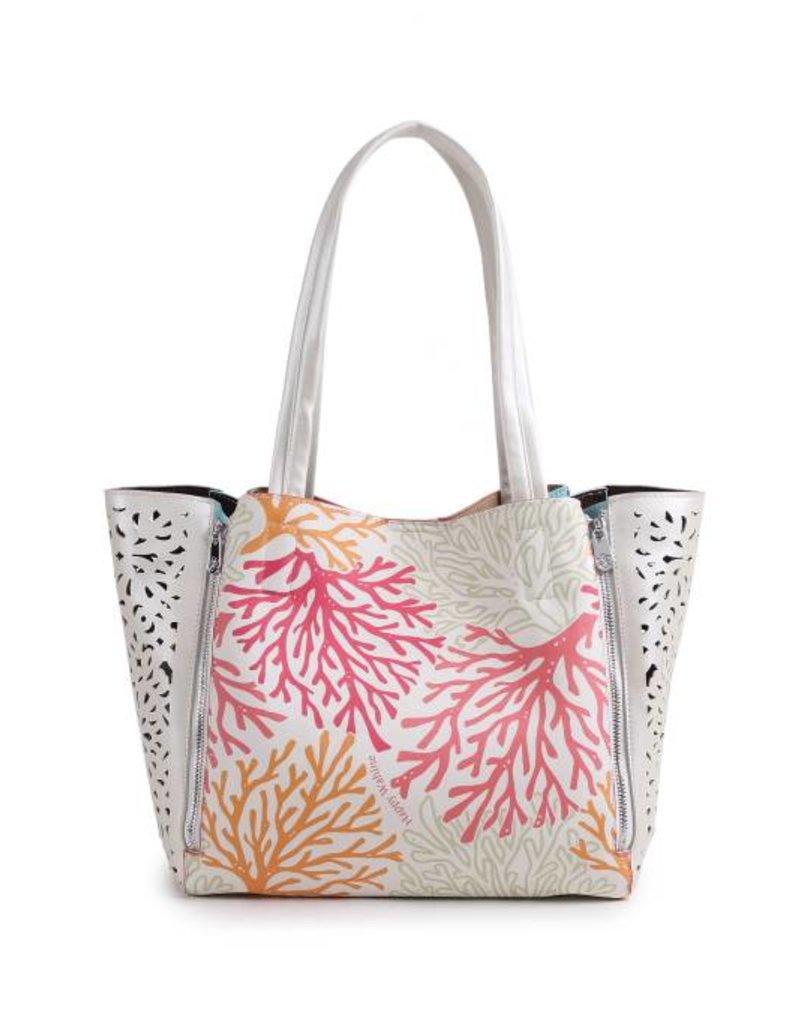 Handbag Amy Coral Beige Large