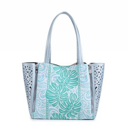 Handbag Amy Monstera Green Large