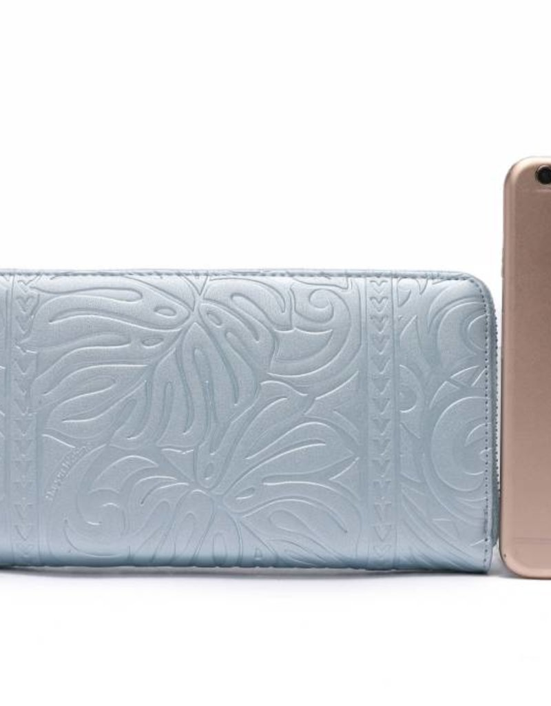 Wallet Kaylee Monstera Blue Met Emb
